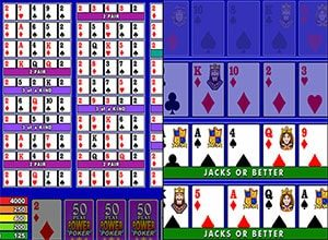 casino action video poker