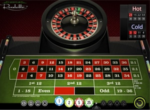 european roulette layout screenshot