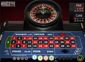 french roulette layout screenshot