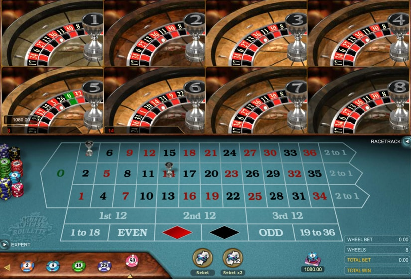 Multi Wheel Roulette Gold by Microgaming