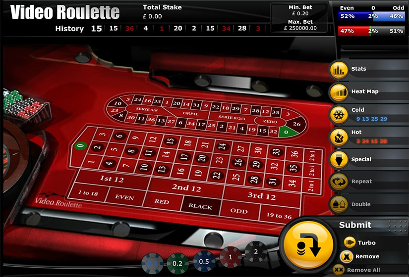 Video Roulette by Playtech